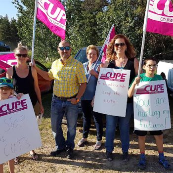 CUPE 2361 - NEWS - Protesters picket Sask Party AGM