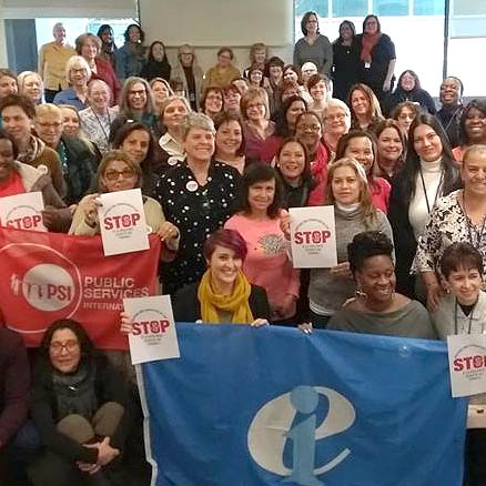Trade union women lobby to uphold fundamental labour rights in the fight for equality