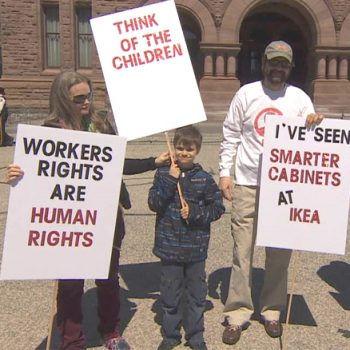 CUPE 2361 - NEWS - Dozens of auto workers protest new labour laws in Toronto