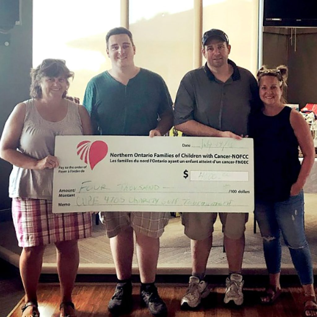 Local 4705 golf tourney raises $4,000 for cancer charity