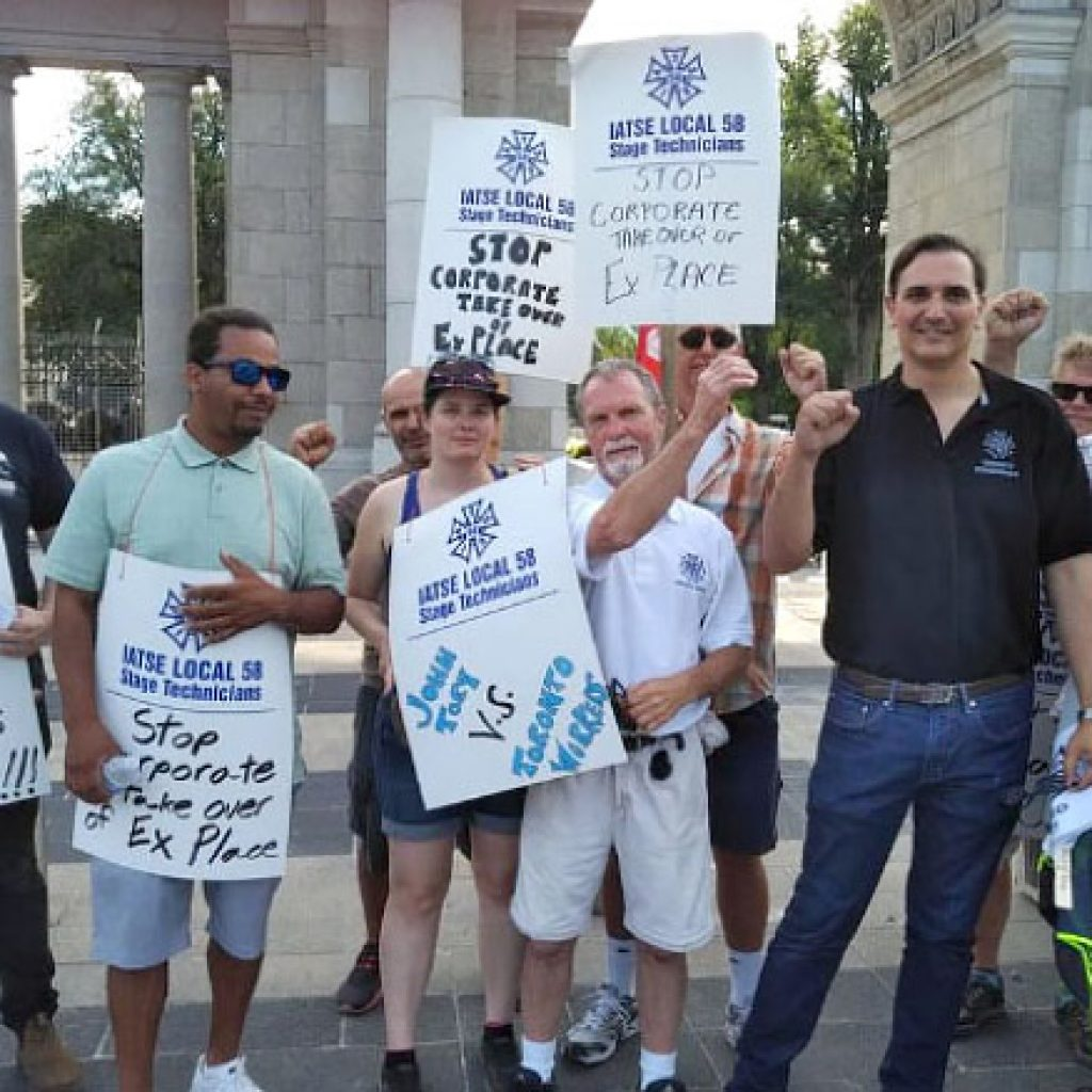 CUPE Ontario urges solidarity with locked out IATSE Local 58 workers at Exhibition Place