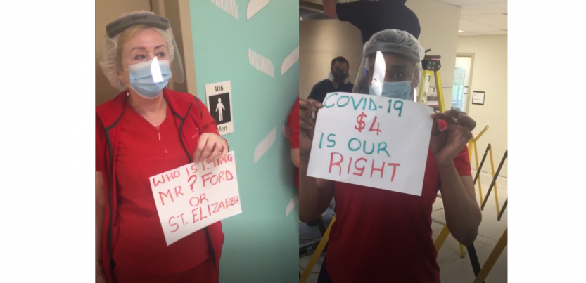'No increase? No work!' Toronto health care workers save pandemic premium via job action