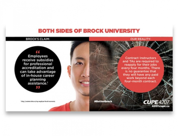 Ad campaign mocks Brock's top employer status