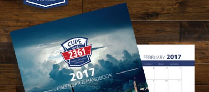 CLAIM YOUR CUPE 2361 CALENDAR AND HANDBOOK!