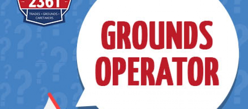 JOB POSTING – Grounds Operator