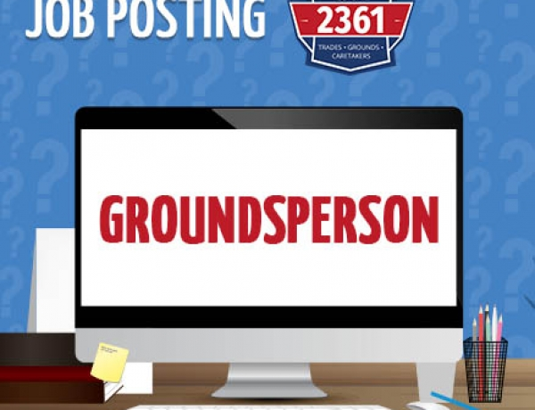 JOB POSTING – Groundsperson