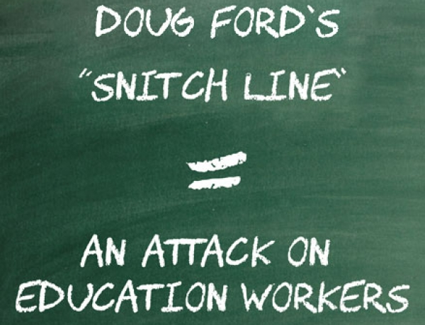 Statement from CUPE education workers in support of Ontario teachers