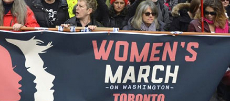 'You are part of history right now,' Toronto women's march told