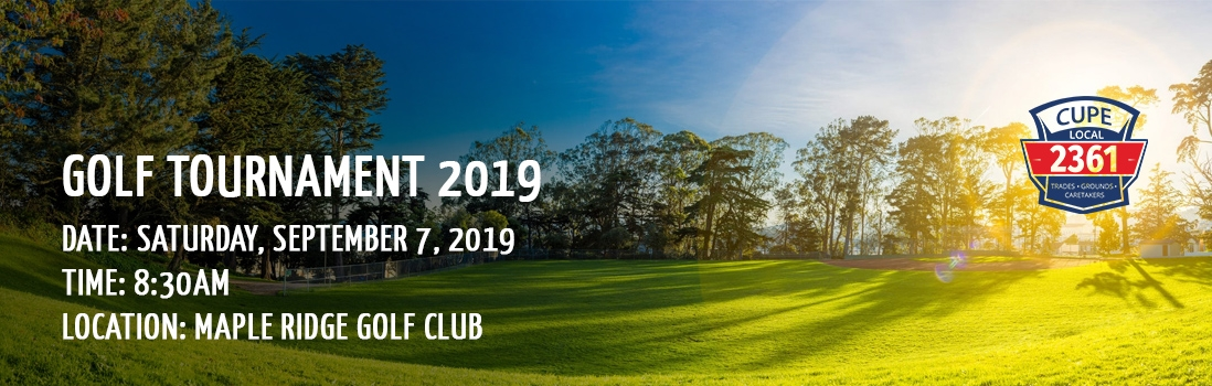 CUPE 2361 Golf Tournament 2019