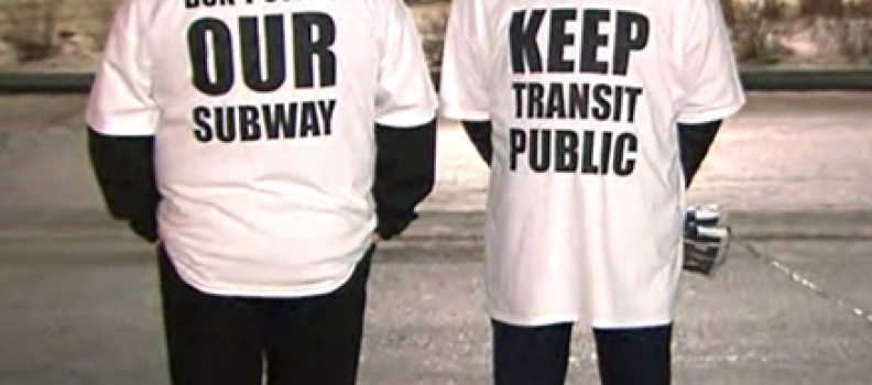Frontline TTC workers hold silent protest over potential subway upload