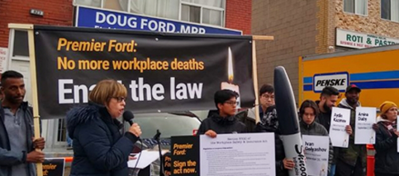Occupy Ford: No more workplace deaths