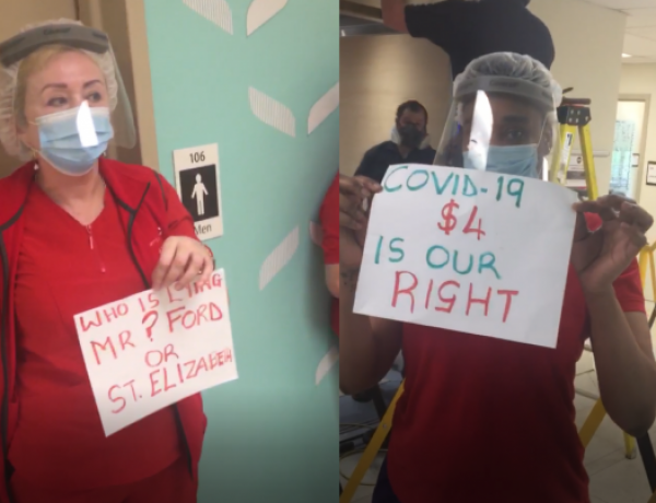 'No increase? No work!' Toronto health care workers save pandemic premium via job action